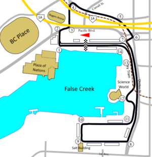 Molson Indy Vancouver - Vancouver circuit from 1998.