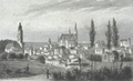 Vannes - Vue de la Ville par le nord 1836.png