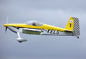 Aircraft registration - A Van's Aircraft RV-7 displaying registration G-KELS. The G prefix denotes a civil aircraft registered in the United Kingdom