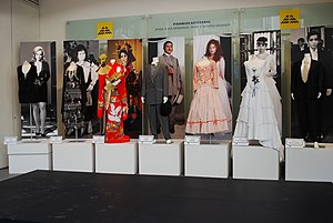Yolanda Vargas Dulché - Display of costumes and posters from various telenovelas created by Vargas Dulché at the Museo de Arte Popular.
