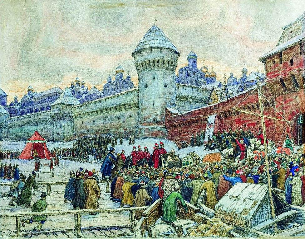 File Vasnetsov Ot Ezd S Kulachnogo Boya 1900s Jpg Wikimedia Commons