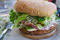 Veggie burger flickr user divinemisscopa creative commons.jpg