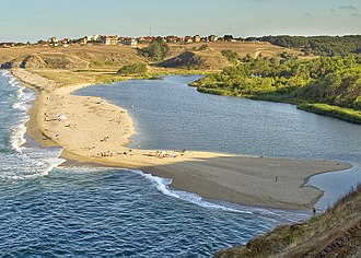 Bulgarian Black Sea Coast - The Veleka River mouth at Sinemorets