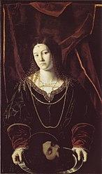 Bartolomeo Veneto: Salome with the head of John the Baptist