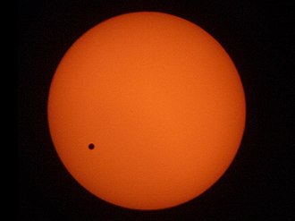 Transit of Venus, 2004 - A photograph taken at 15:39 Hong Kong time (07:39 UTC) from Tuen Mun, New Territories, Hong Kong.