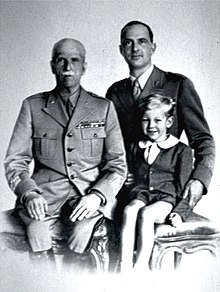 Victor Emmanuel III of Italy with son Umberto and grandson Vittorio.jpg