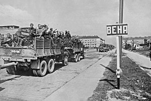 38th Guards Airborne Corps - Soviet troops during the Vienna Offensive