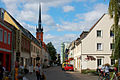 Vierradener Straße mit Blick auf die katholische Kirche - Schwedt.jpg