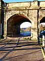 View northwest through an arch of Stourport Bridge, Stourport-on-Severn - geograph.org.uk - 1651798.jpg