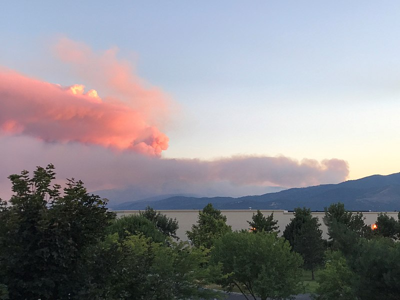 File:View of Lolo Fire smoke plume from Missoula on August 16 2017.jpg