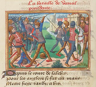 Battle of Verneuil - The Battle of Verneuil, 1484 illustration in the Vigiles du roi Charles VII