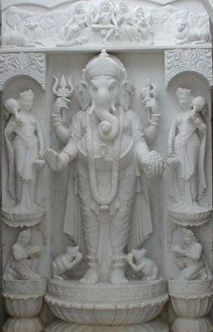Shri Swaminarayan Mandir, Bhuj (New temple) - Image: Vigna Vinayak