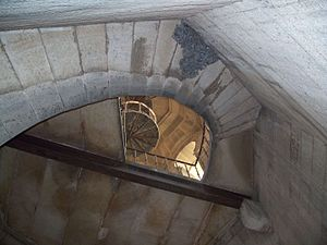 Vizianagaram Fort - The stairway in the palace bathroom leading to the top