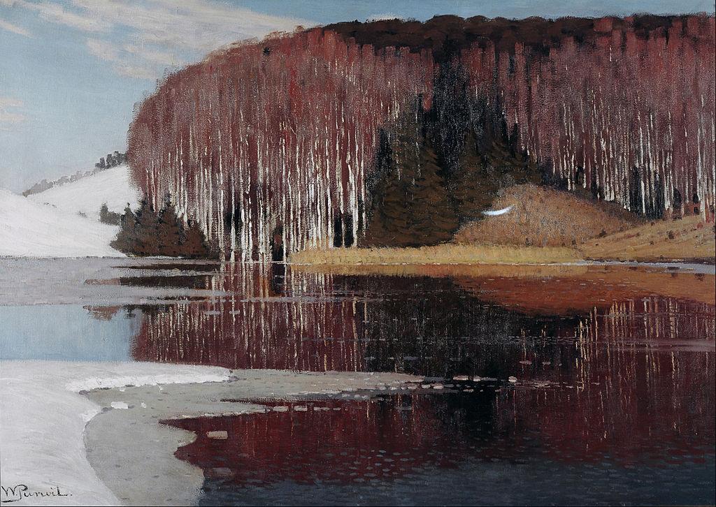 """Vilhelms Purvītis """"Eaux printanières"""" (1910) au Musée National Letton"""