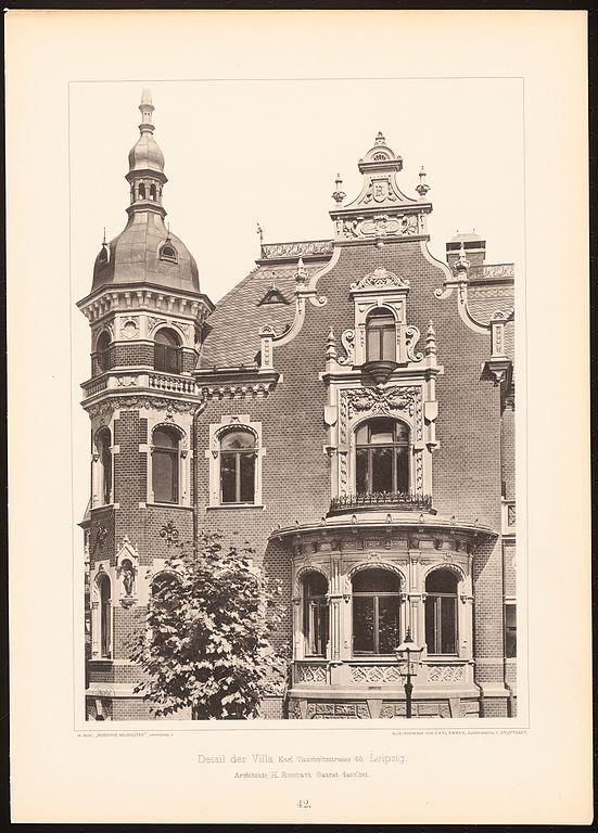 File villa karl tauchnitzstrasse 45 leipzig detail for Architekt leipzig
