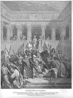 Susanna (Handel) - The prophet Daniel saving Susanna by Gustave Doré