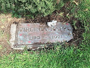 Virginia Rappe - Grave of Virginia Rappe at Hollywood Forever Cemetery