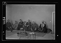 Visit to Beersheba Agricultural Station (Experimental) by Brig. Gen. Allen & staff & talks to Bedouin sheiks of district by station superintendent LOC matpc.20526.jpg
