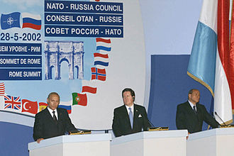 NATO - Meeting of the NATO–Russia council in Rome, Italy on 28 May 2002