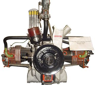horizontally opposed four-cylinder piston engine