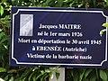 Vregny (Aisne) mémorial Jaques Maitre, déporté.JPG