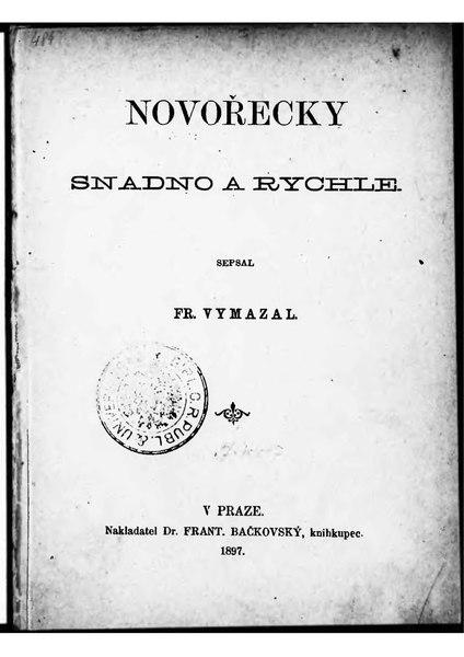 File:Vymazal, František - Novořecky snadno a rychle.djvu