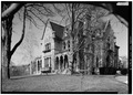 WEST AND SOUTH ELEVATIONS FROM SOUTHWEST. - Cornell University, Llenroc, 100 Cornell Avenue, Ithaca, Tompkins County, NY HABS NY,55-ITH,11A-4.tif