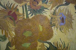 Zonnebloemen, Vincent van Gogh, 1889, detail 2