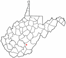 Location of Rupert, West Virginia