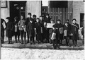 Waiting for their papers. 3 of these were 8 years old. Some were 9 years old. Hartford, Conn. - NARA - 523169.tif
