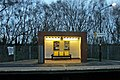 Waiting shelter, Halewood railway station (geograph 3819928).jpg