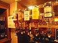 Walker and Scott spirits behind the bar, public bar, Railway Inn, Spofforth, North Yorkshire (4th May 2019) 001.jpg