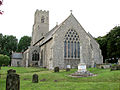 War memorial by St Martins church, Hindringham (geograph 2032392).jpg