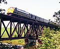 Waterloo-St. Jacobs train on bridge.jpg