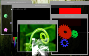Screenshot of a Wayland demonstration