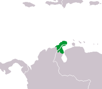Wayuu people - Area inhabited by the Wayuus, between Colombia and Venezuela