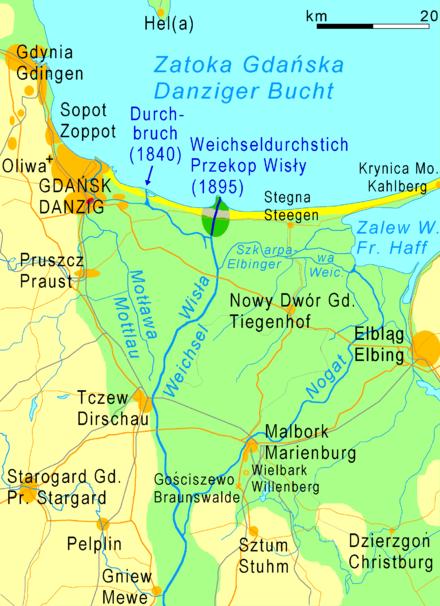 wisla na mapie polski