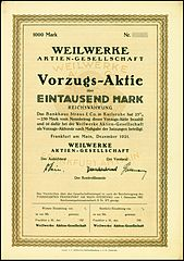 https://upload.wikimedia.org/wikipedia/commons/thumb/7/7e/Weilwerke_1921_1000_Mk.jpg/169px-Weilwerke_1921_1000_Mk.jpg