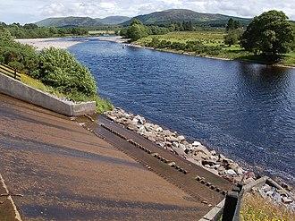 River Lochy - The Lochy near Gairlochy