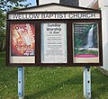Wellow Baptist Church, Main Road (B3401), Wellow (May 2016) (Signboard).jpg