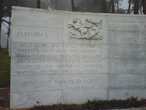 West Coast Memorial to the Missing of World War II - West Coast Memorial Inscription