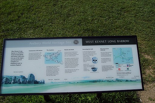 West Kennet Long Barrow sign