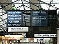 Westbound departure board, Earls Court district line - geograph.org.uk - 1451917.jpg