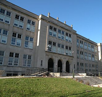 Westinghouse High School (Pittsburgh) - Front of school