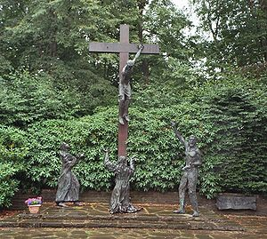 A memorial in Vossenack dedicated to all who fell, regardless of allegiance, victims of the battle for the Hürtgen Forest