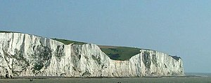 Strait of Dover - The white cliffs of Dover