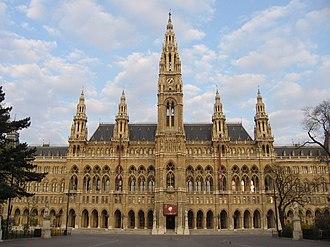 Friedrich von Schmidt - Vienna Town Hall, designed by Friedrich von Schmidt.
