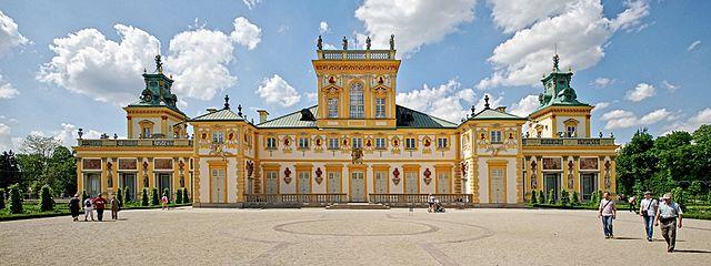 > Vue du Palais deWilanów depuis les jardins.