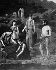 Nausikaa bringer den skibbrudne Odysseus klæder
