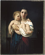 William Bouguereau - The Elder Sister, reduction (La soeur aînée, réduction) - Google Art Project.jpg